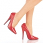 Preview: Pleaser Domina-420 - Sexy extreme Fetisch Pumps High Heels - rot