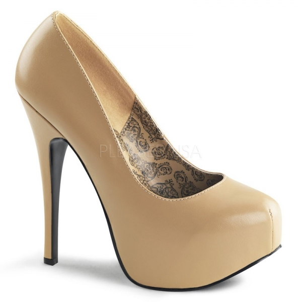 Bordello Plateau Pumps Teeze-06 - PU Tan